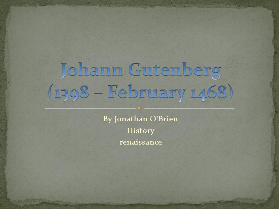 By Jonathan O Brien History renaissance