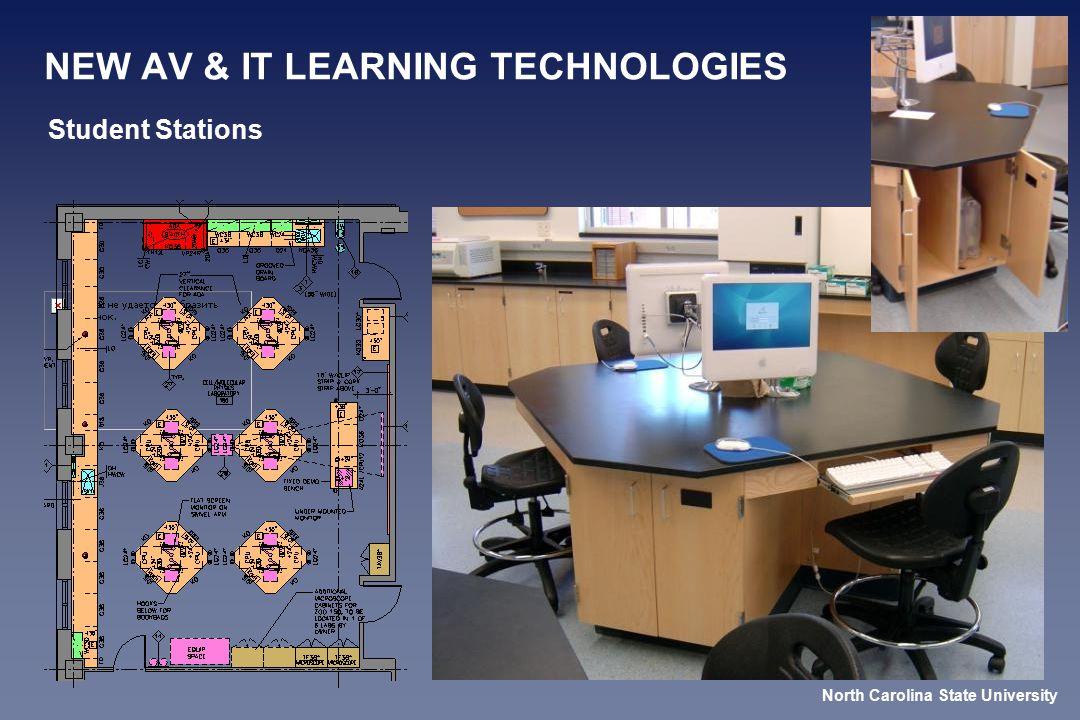 NEW AV & IT LEARNING TECHNOLOGIES Student Stations North Carolina State University