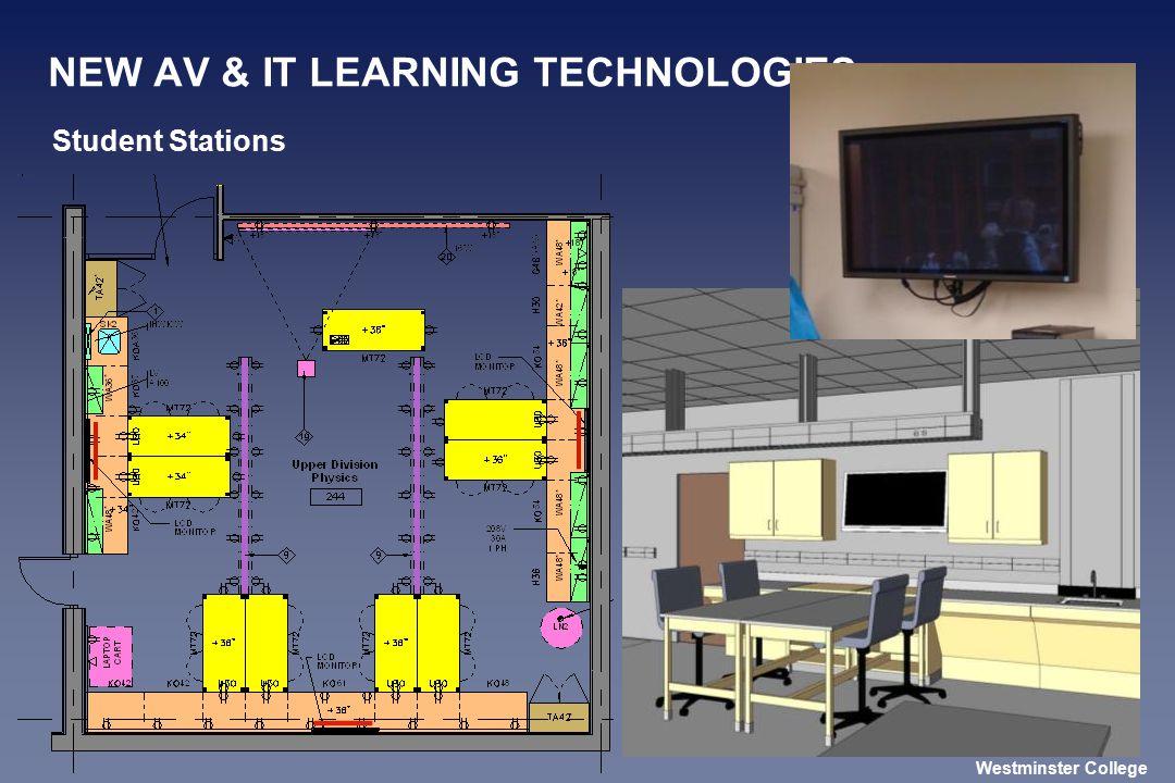 NEW AV & IT LEARNING TECHNOLOGIES Student Stations Westminster College