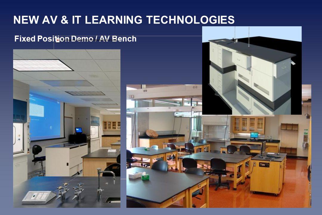NEW AV & IT LEARNING TECHNOLOGIES Fixed Position Demo / AV Bench