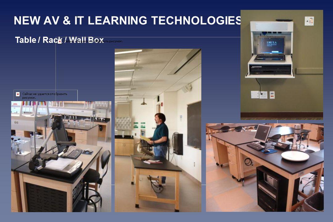 NEW AV & IT LEARNING TECHNOLOGIES Table / Rack / Wall Box