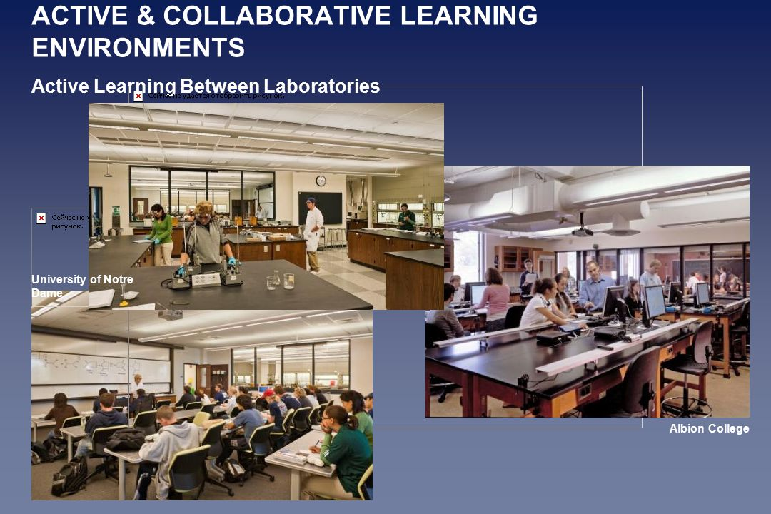 ACTIVE & COLLABORATIVE LEARNING ENVIRONMENTS Active Learning Between Laboratories Albion College University of Notre Dame