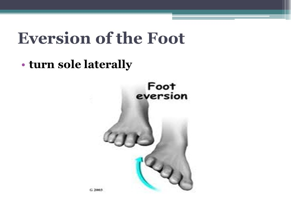 Eversion of the Foot turn sole laterally