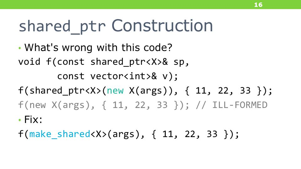 shared_ptr Construction What s wrong with this code.