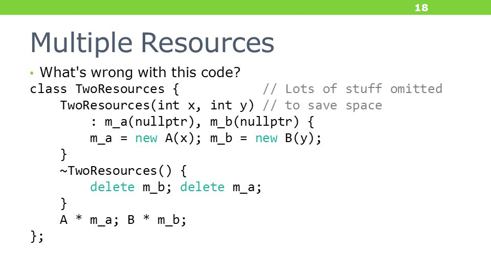 Multiple Resources What s wrong with this code.