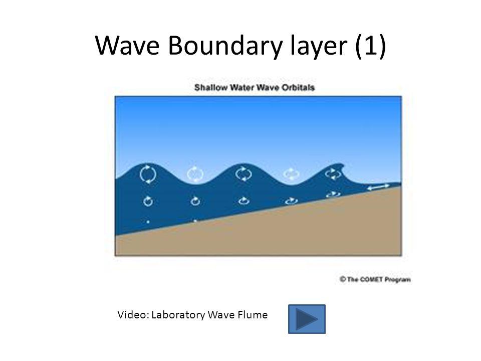 Wave Boundary layer (1) Video: Laboratory Wave Flume