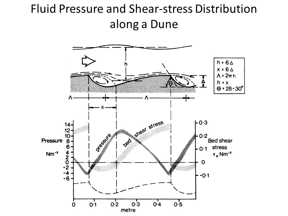 Fluid Pressure and Shear-stress Distribution along a Dune