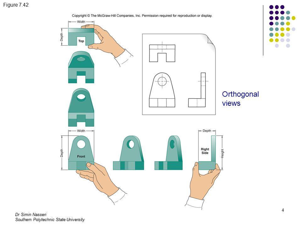 Dr Simin Nasseri Southern Polytechnic State University 4 Figure 7.42 Orthogonal views