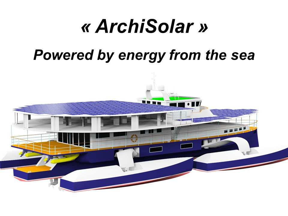 « ArchiSolar » Powered by energy from the sea