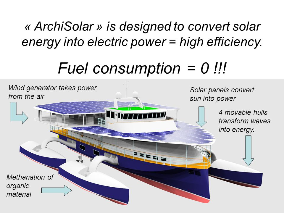 « ArchiSolar » is designed to convert solar energy into electric power = high efficiency.