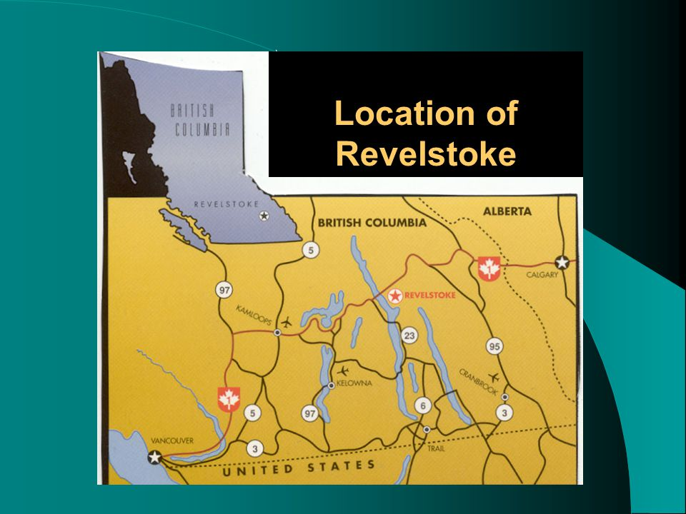 map \ Location of Revelstoke