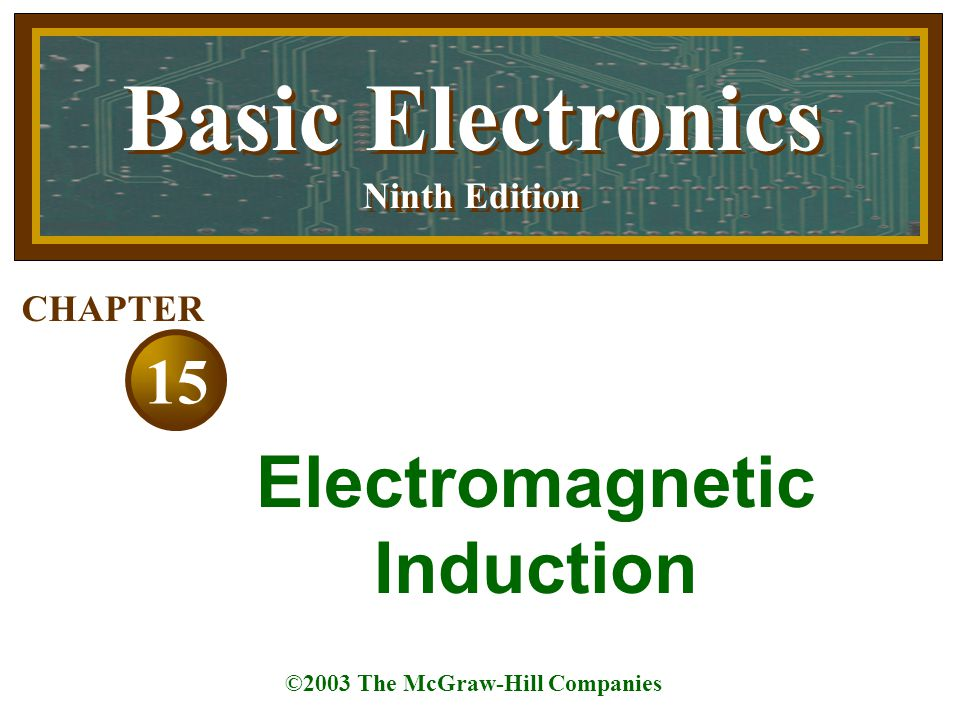 Topics Covered in Chapter 15  Magnetic Field around an Electric Current  Magnetic Polarity of a Coil  Motor Action between Two Magnetic Fields  Induced Current