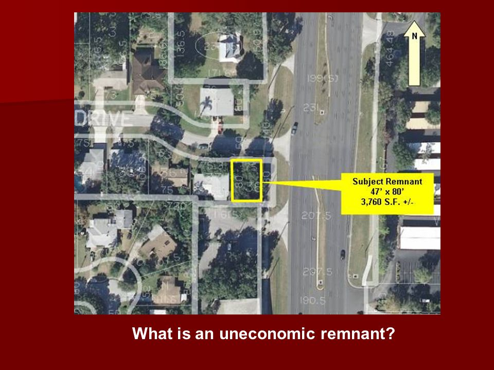What is an uneconomic remnant