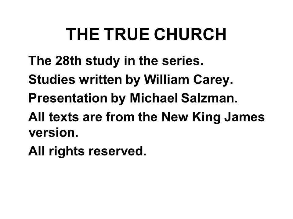The 28th study in the series.Studies written by William Carey.