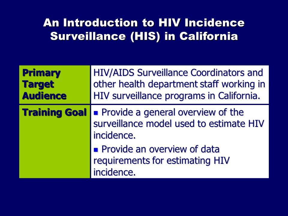 Timeline of HIV Surveillance in California