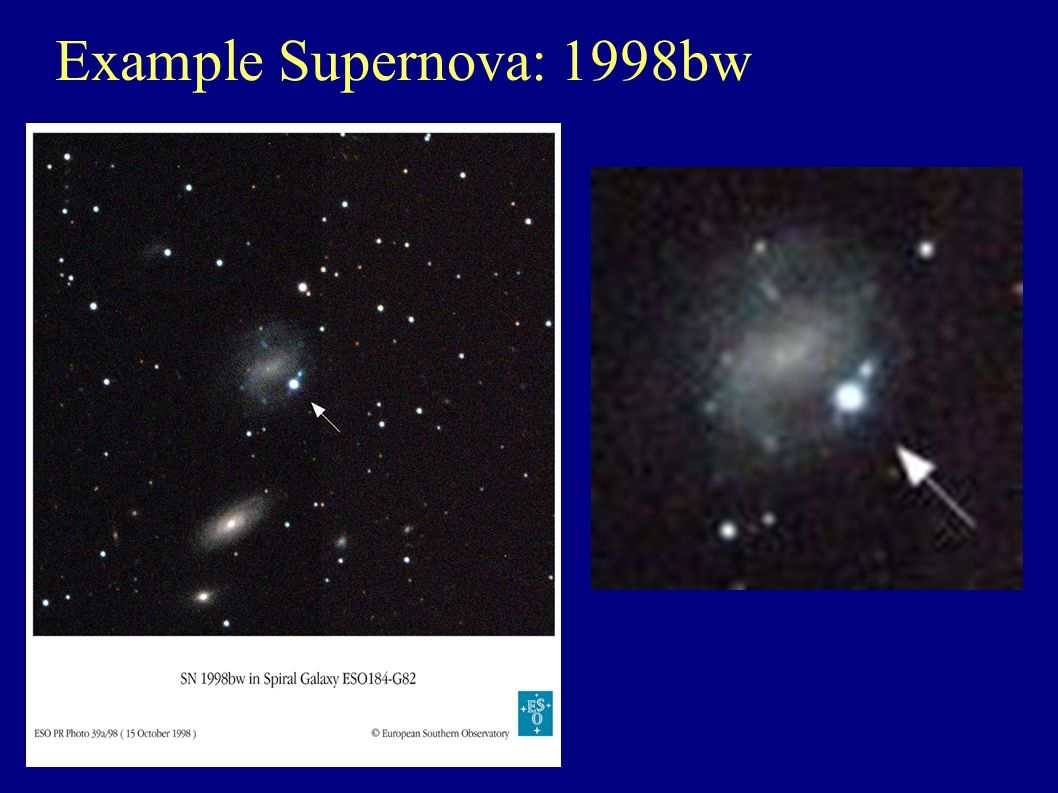Example Supernova: 1998bw
