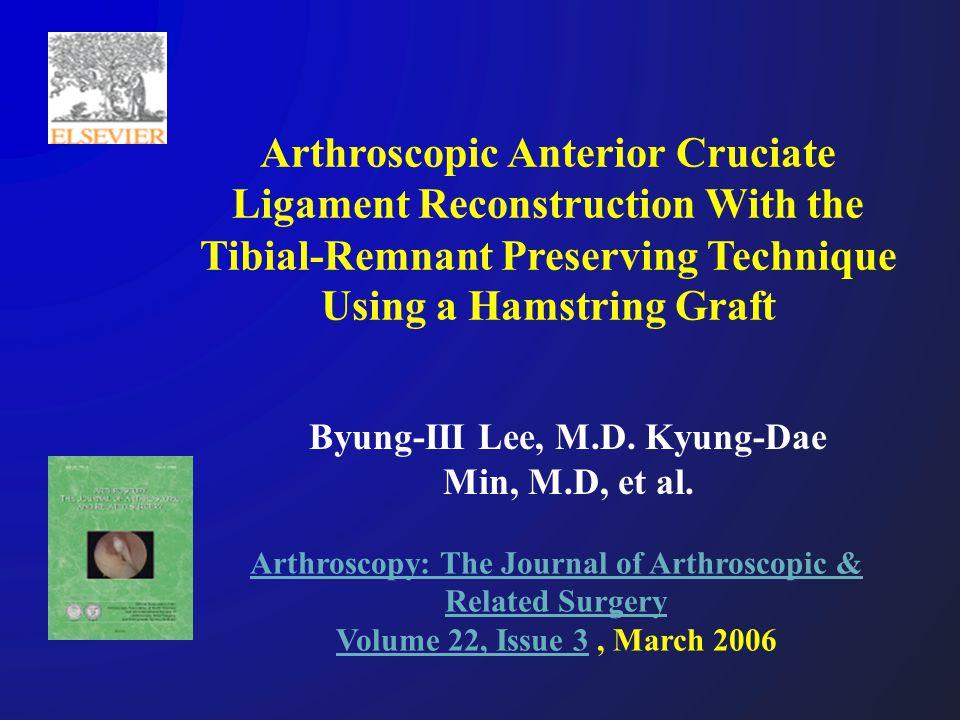 Arthroscopy: The Journal of Arthroscopic & Related Surgery Volume 22, Issue 3Arthroscopy: The Journal of Arthroscopic & Related Surgery Volume 22, Iss