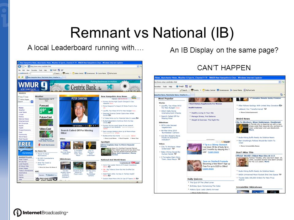 Remnant vs National (IB) A local Leaderboard running with….
