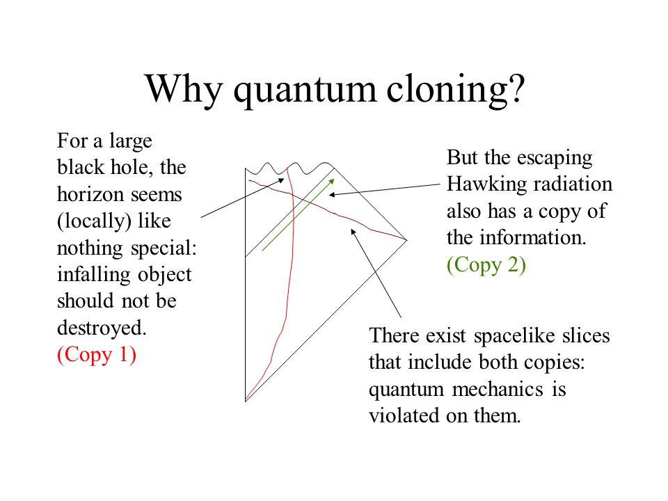 Why quantum cloning.