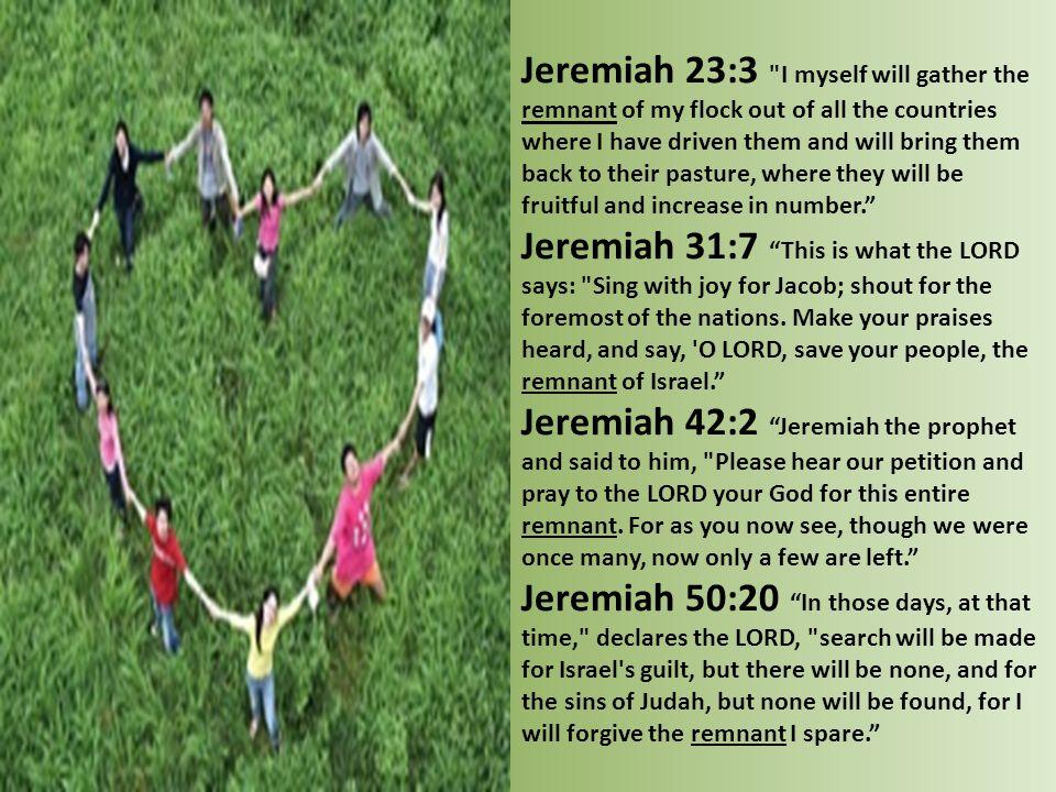 Jeremiah 23:3