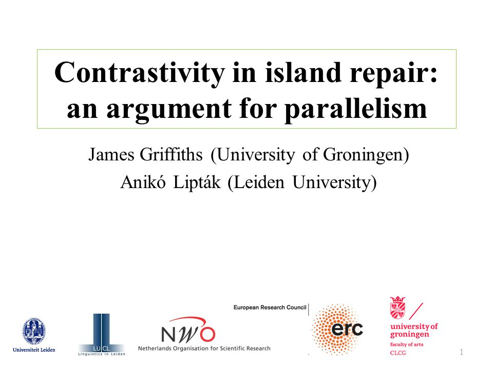 → empirically correct generalization on island obviation: (38) Contrastive fragments cannot obviate islands.