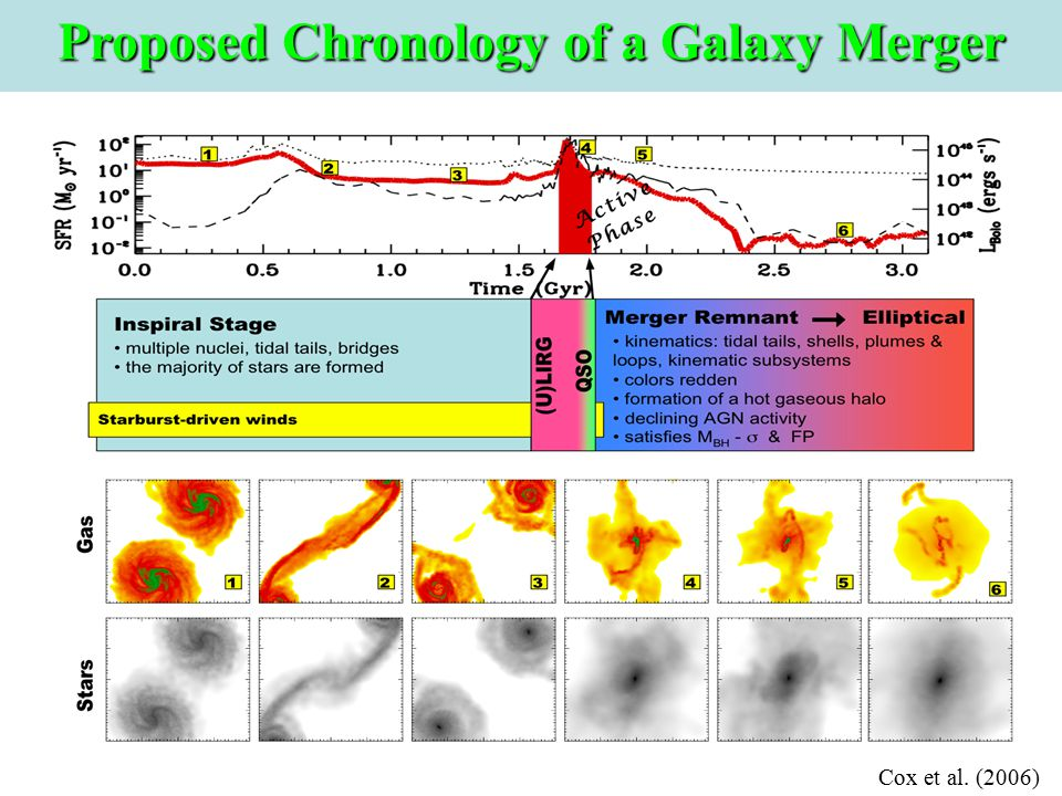 Cox et al. (2006) Proposed Chronology of a Galaxy Merger