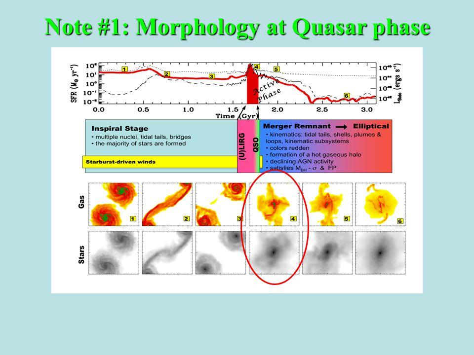 Note #1: Morphology at Quasar phase