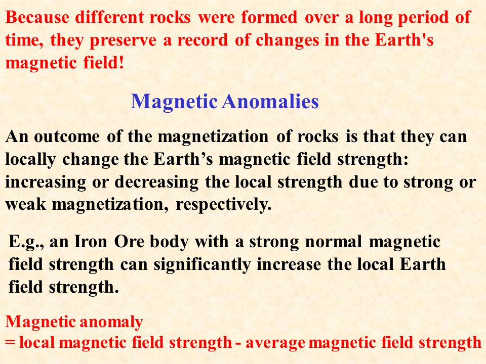 RMS remains fixed as the sedimentary deposit becomes cemented to form a sedimentary rock. In a rock we can measure: 1. The strength of the RMS (a meas