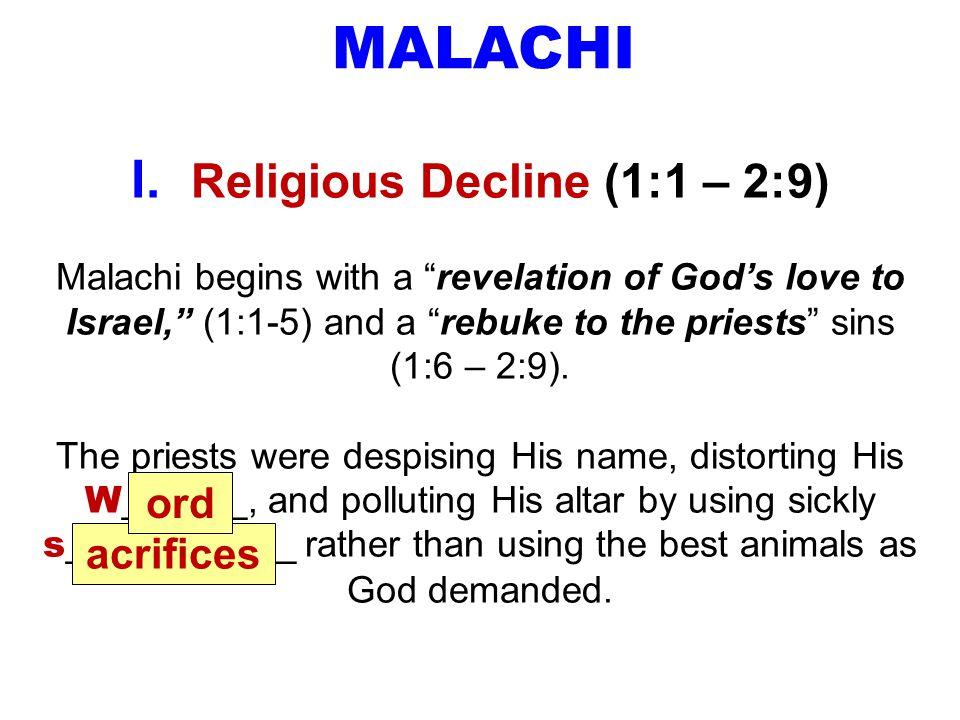 MALACHI I.