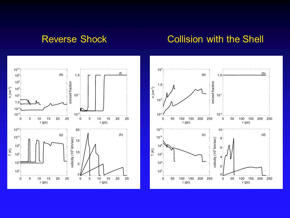 Reverse ShockCollision with the Shell