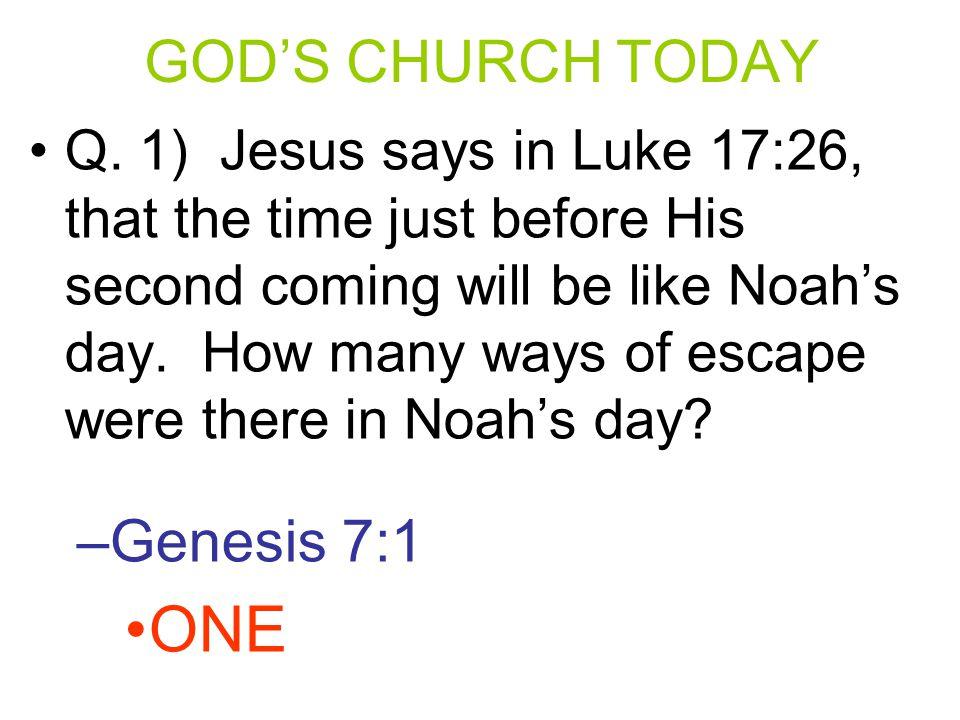 Q.2) How many faiths or churches did Paul say Jesus has.