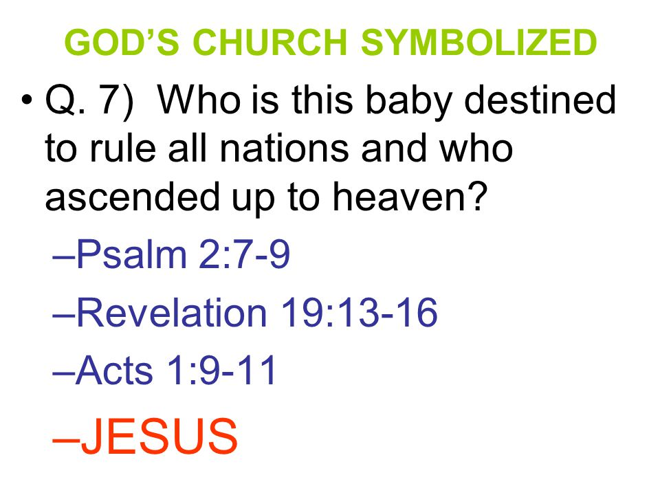 b.Rev 14:8; 18:2,4 Babylon is FALLEN; come OUT of HER my PEOPLE. c.