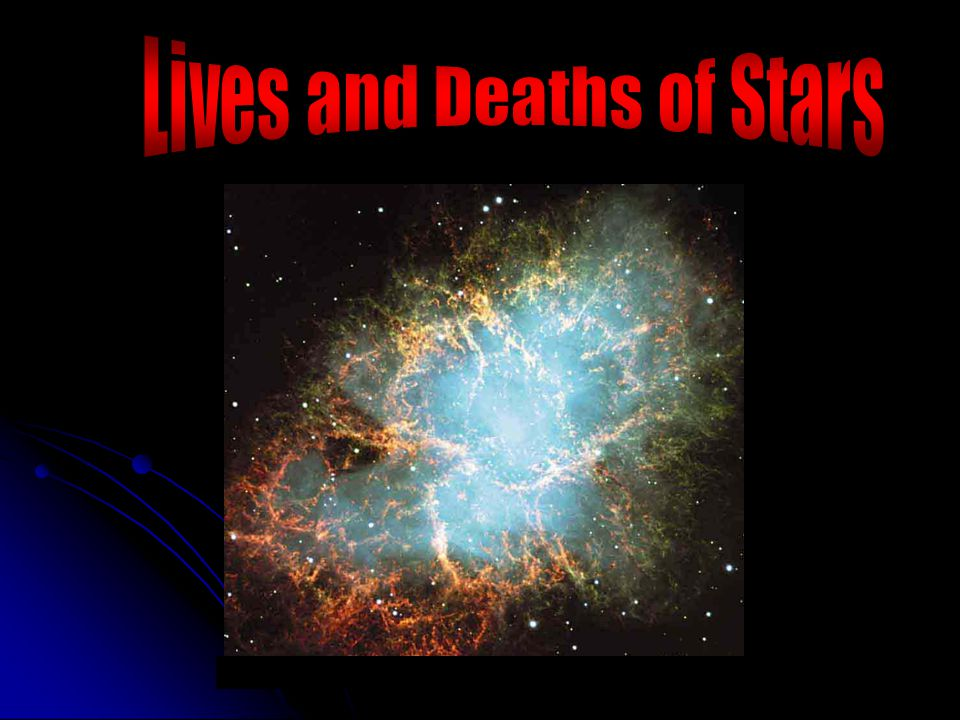 A star will live until all hydrogen is exhausted in its core star mass (solar masses) Lifetime (years) 60 3 million 30 11 million 10 32 million 3 370 million 1.5 3 billion 1 10 billion 0.1 1000 s billions Our Sun will live 5 billion years more