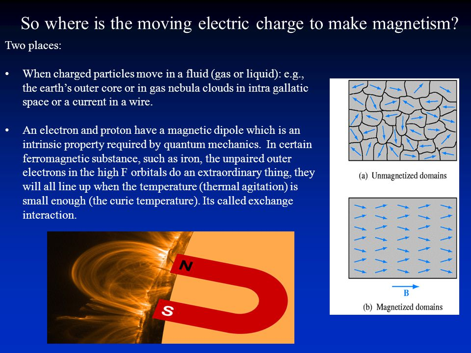 Earth's Magnetic Field Geodynamo Electrical currents produced by convective currents of convective fluids in the liquid outer core Not fully understood We will call it a magnetic dipole Means that the source volume is far from where we measure the field