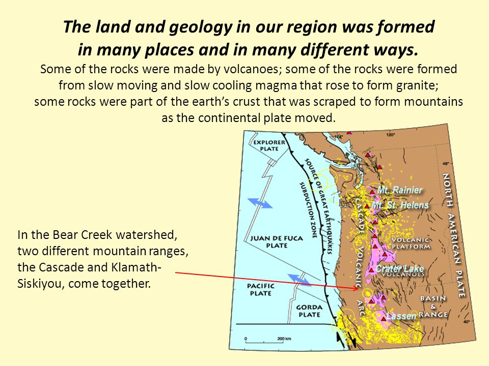 The land and geology in our region was formed in many places and in many different ways.