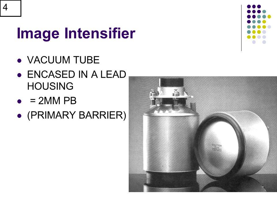 4 Image Intensifier VACUUM TUBE ENCASED IN A LEAD HOUSING = 2MM PB (PRIMARY BARRIER)