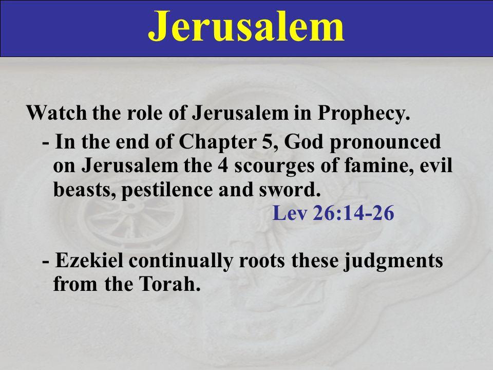 Jerusalem Watch the role of Jerusalem in Prophecy.