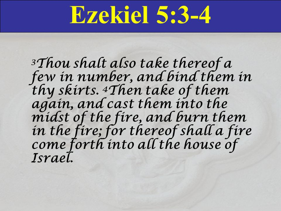The Remnant The concept ot the remnant became the dominant note of prophecy in the Old Testament, from the fall of Jerusalem in 587 BC on; but you can also find the idea in Genesis: - Remember the flood of Noah: out of the entire world, God saved 8 people.