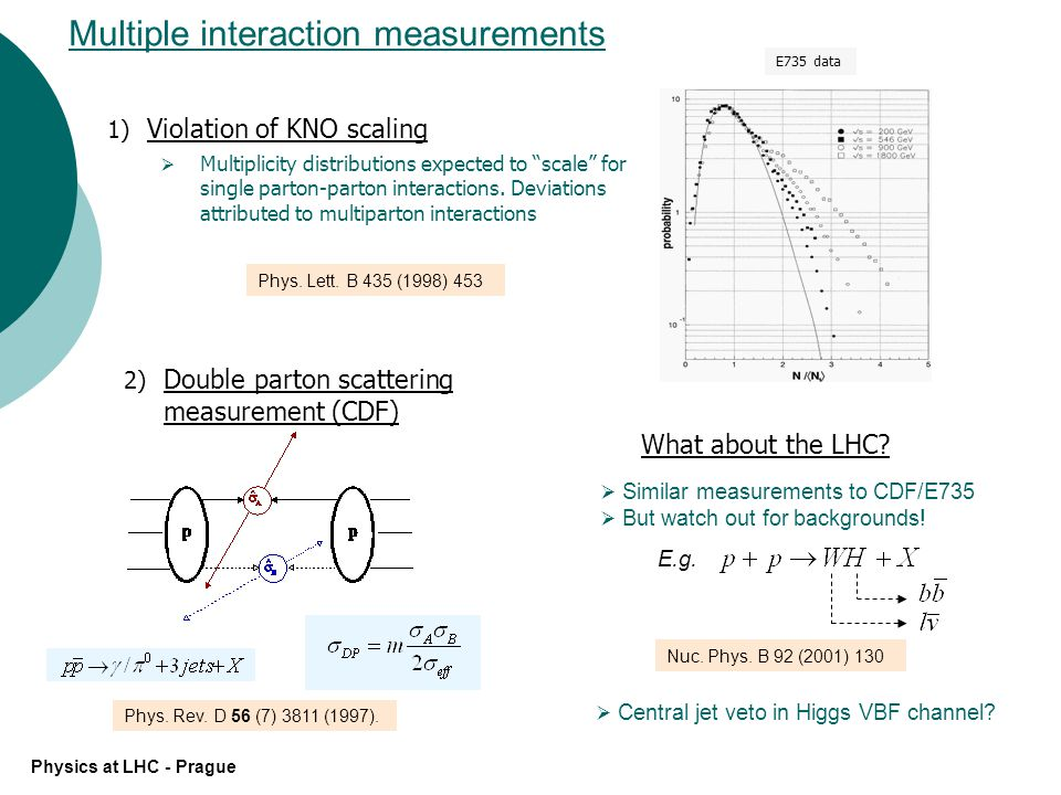Some general characteristics of minimum bias data Physics at LHC - Prague Violation of KNO scaling.