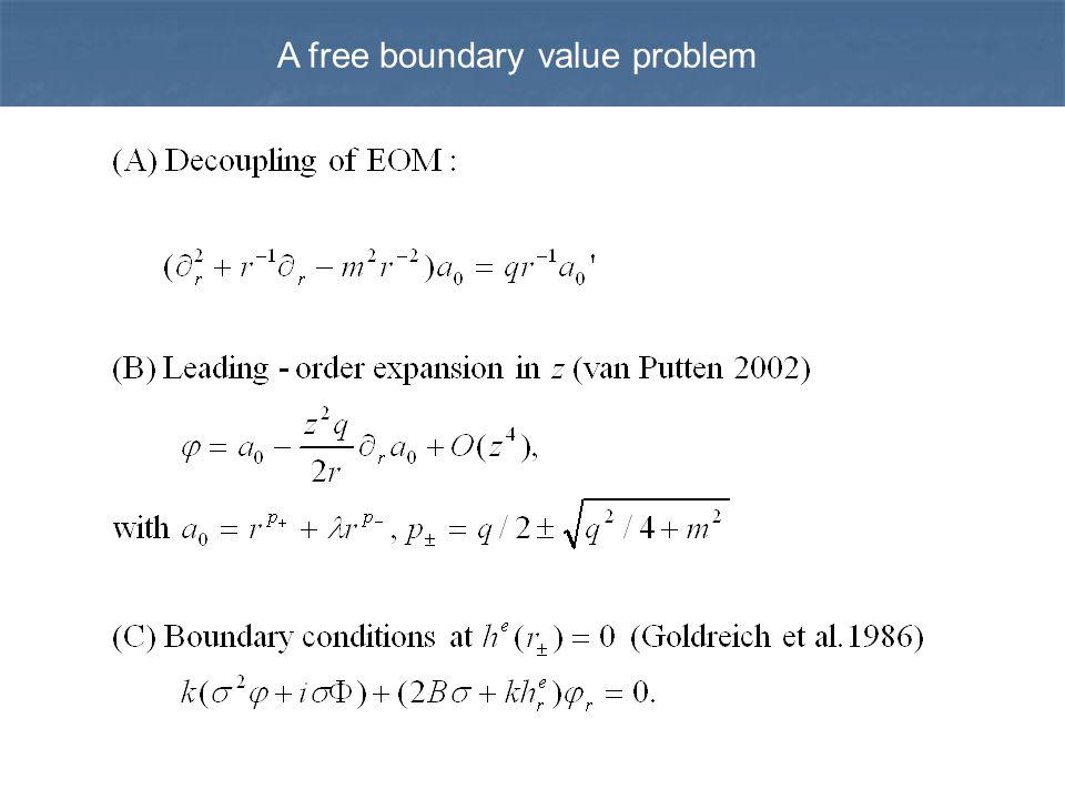 A free boundary value problem