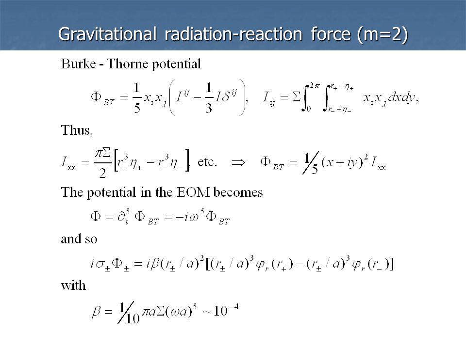 Gravitational radiation-reaction force (m=2)