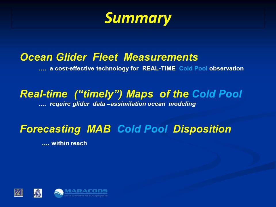 Summary Ocean Glider Fleet Measurements ….