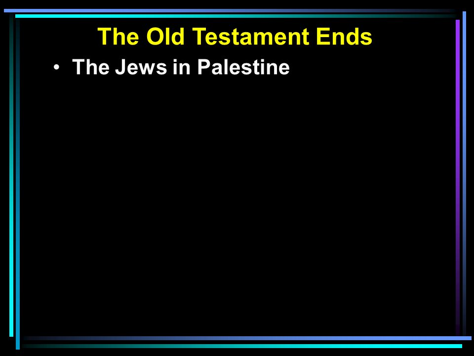 The Jews in Palestine