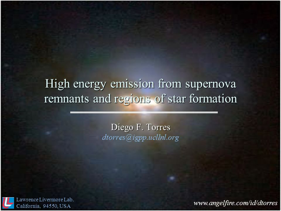 High energy emission from supernova remnants and regions of star formation Diego F.