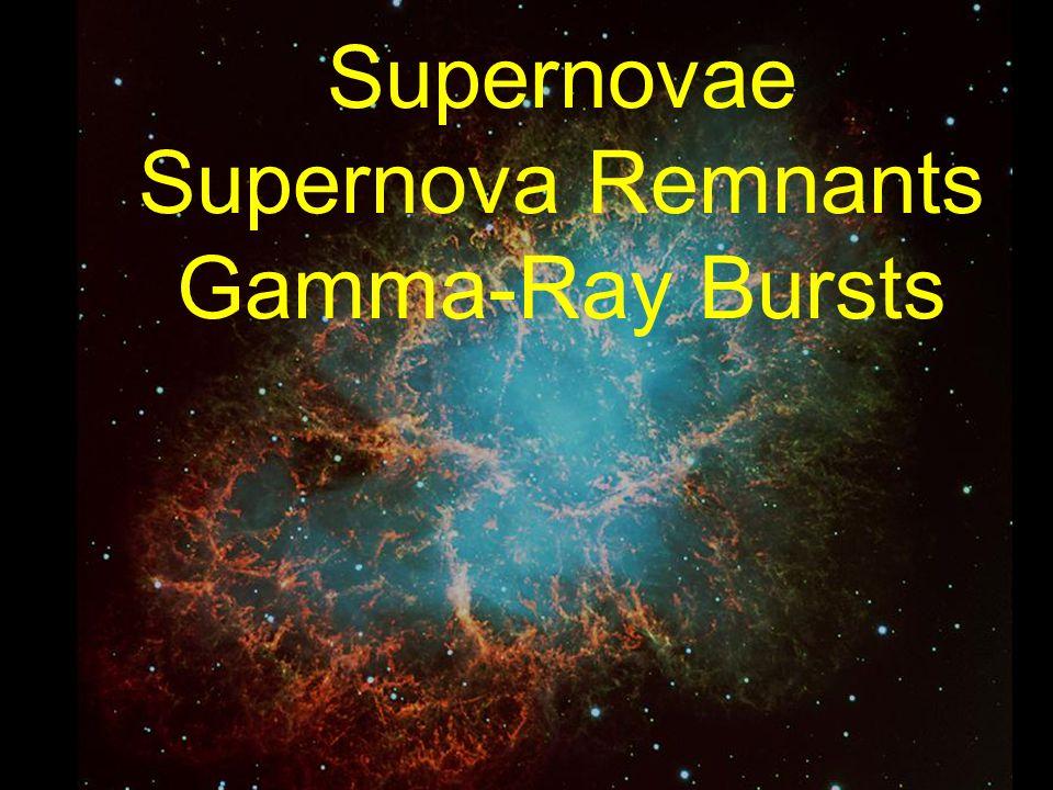 Supernovae Supernova Remnants Gamma-Ray Bursts