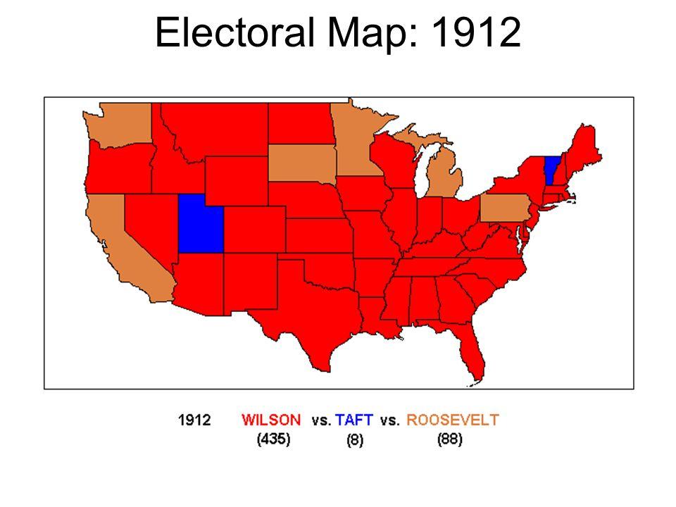 Electoral Map: 1912