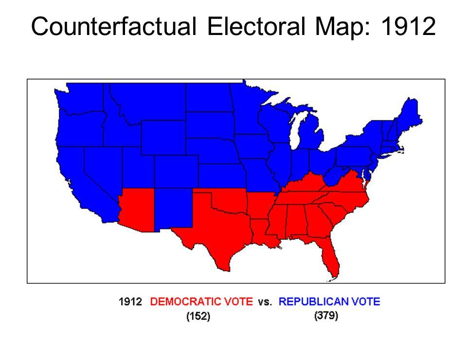 Counterfactual Electoral Map: 1912