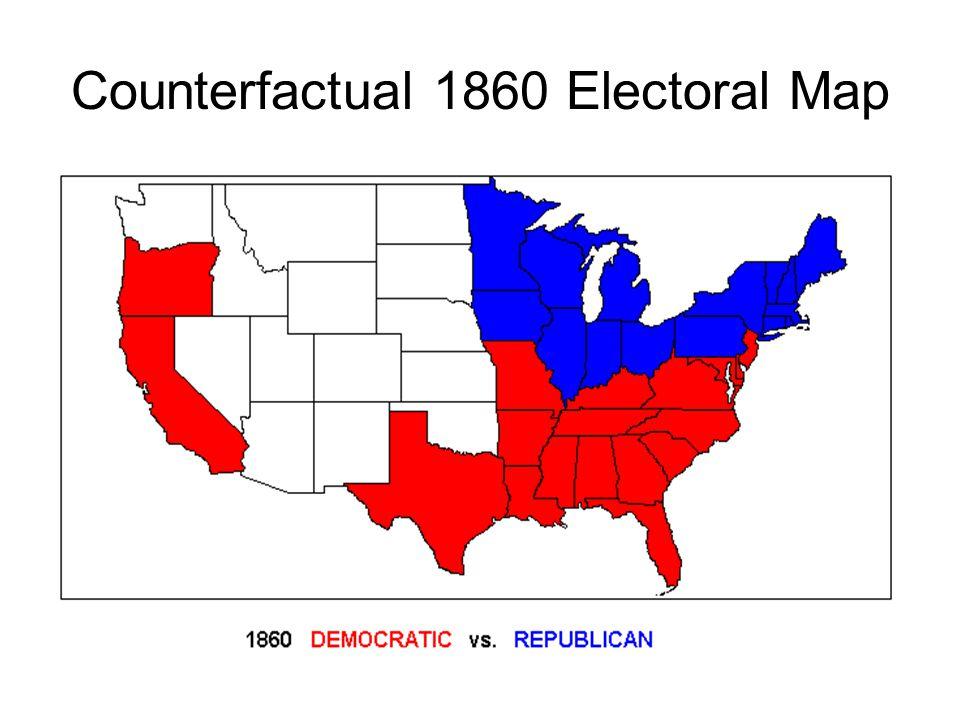Counterfactual 1860 Electoral Map