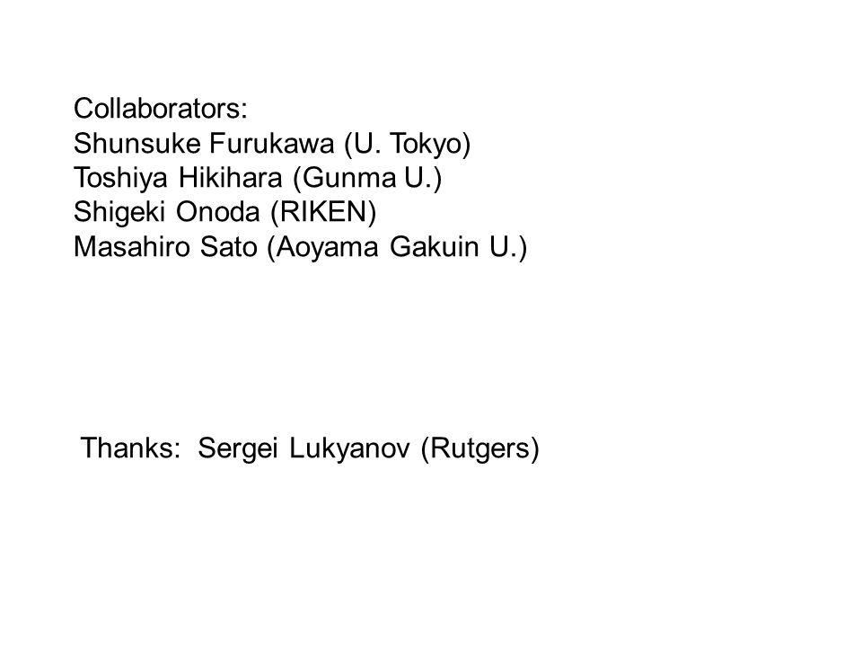 Collaborators: Shunsuke Furukawa (U.