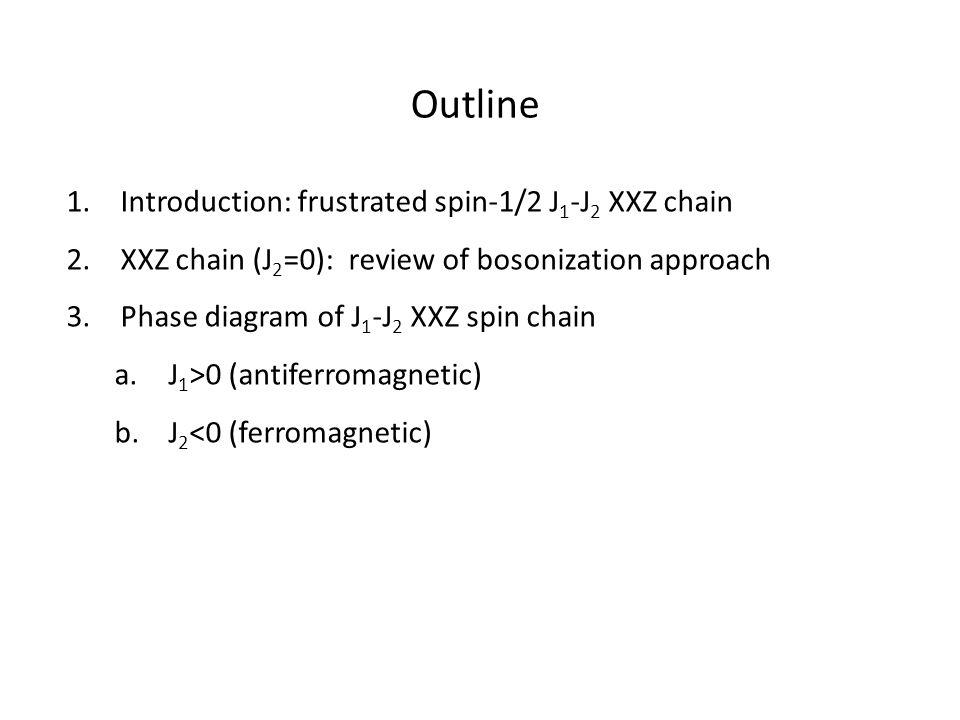 J1J1 J 2 > 0(AF) If J 2 is antiferromagnetic, spins are frustrated regardless of the sign of J 1.